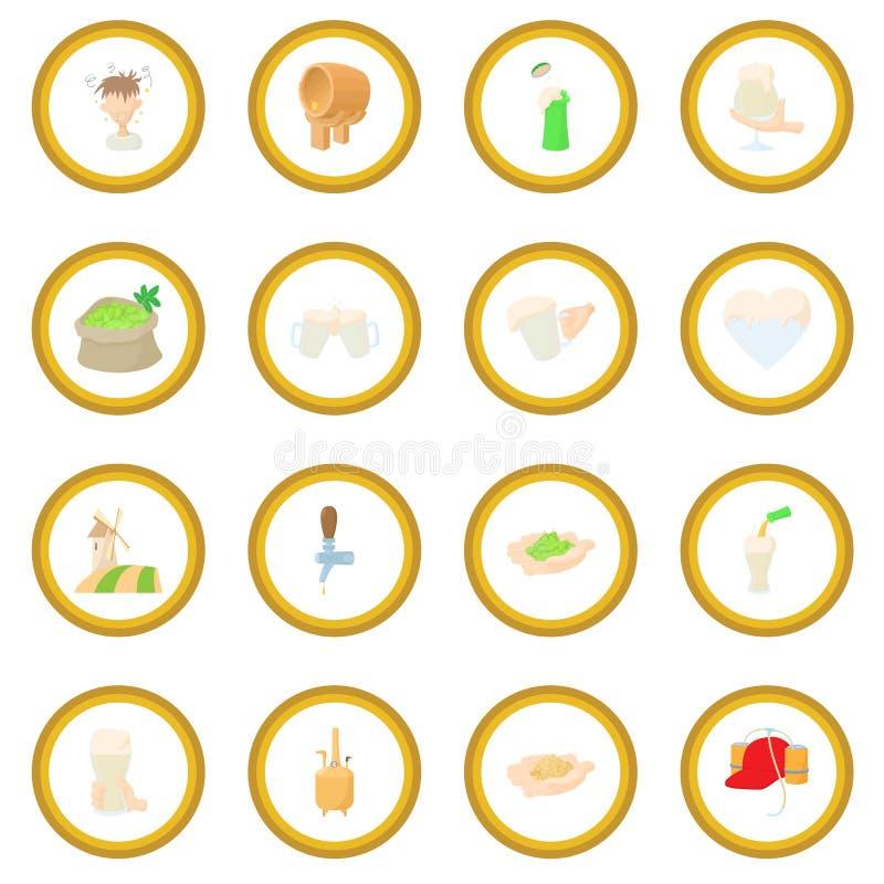 De cirkel van het bierpictogram vector illustratie