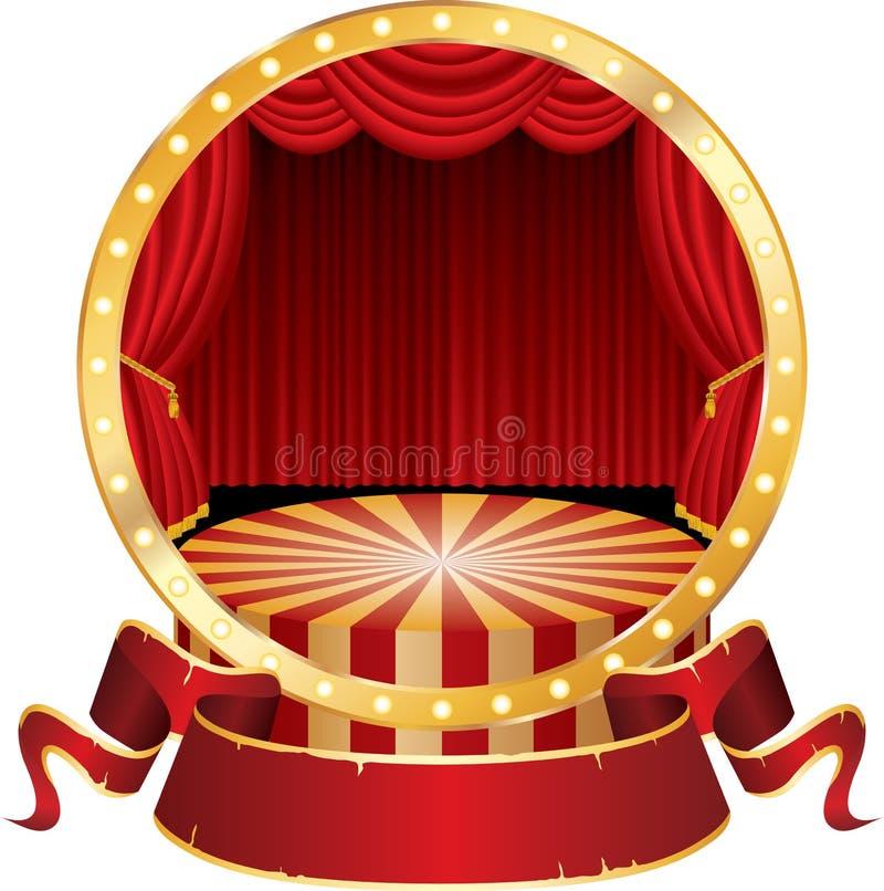 De cirkel van het circus royalty-vrije illustratie