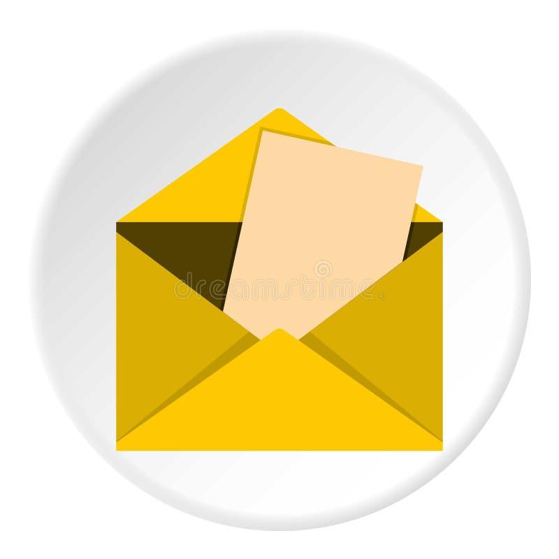 De cirkel van het enveloppictogram stock illustratie