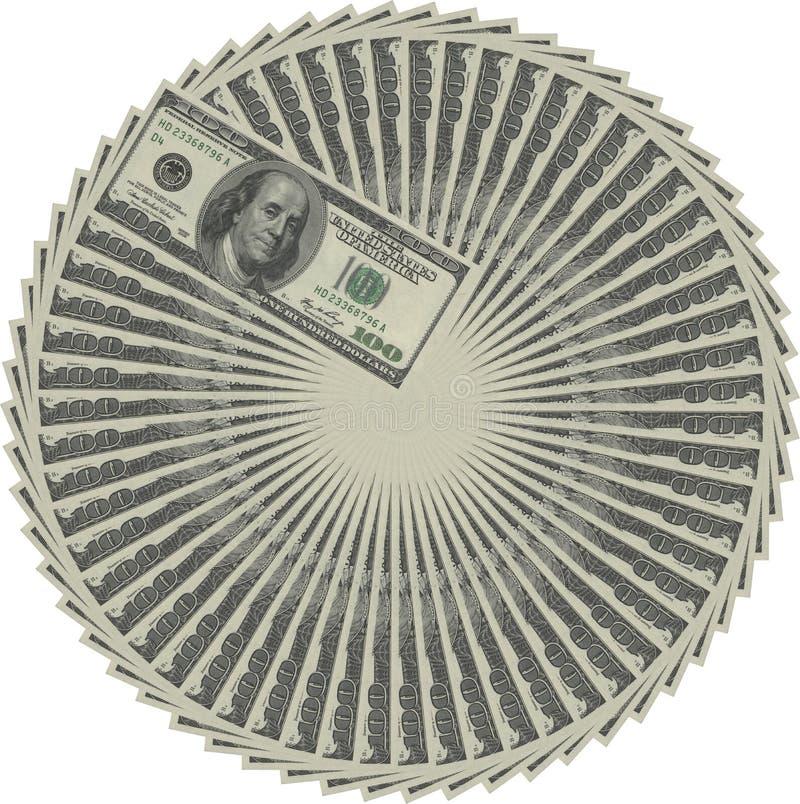 De cirkel van het geld stock illustratie