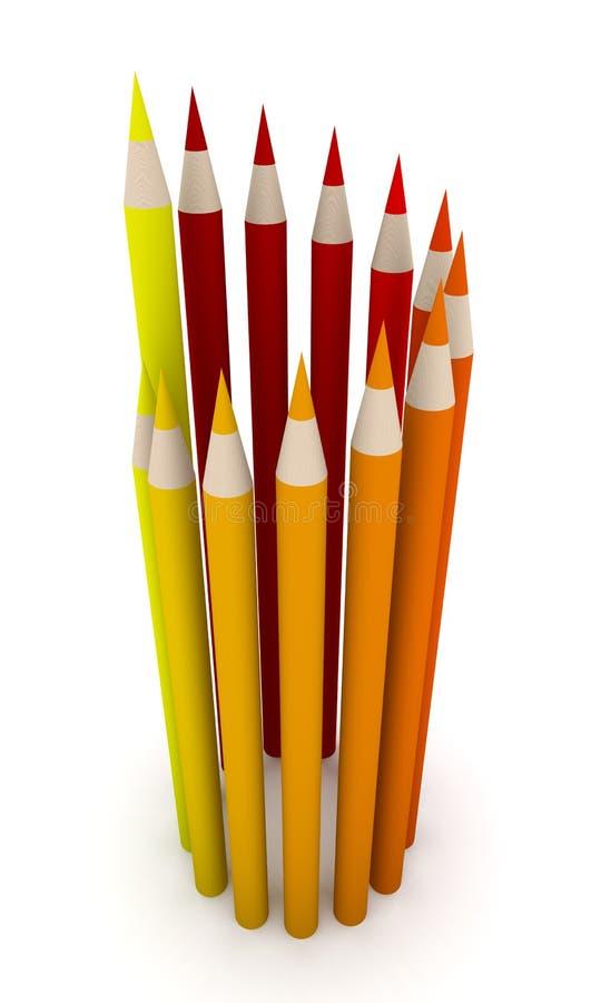 De Cirkel van het kleurpotlood stock illustratie