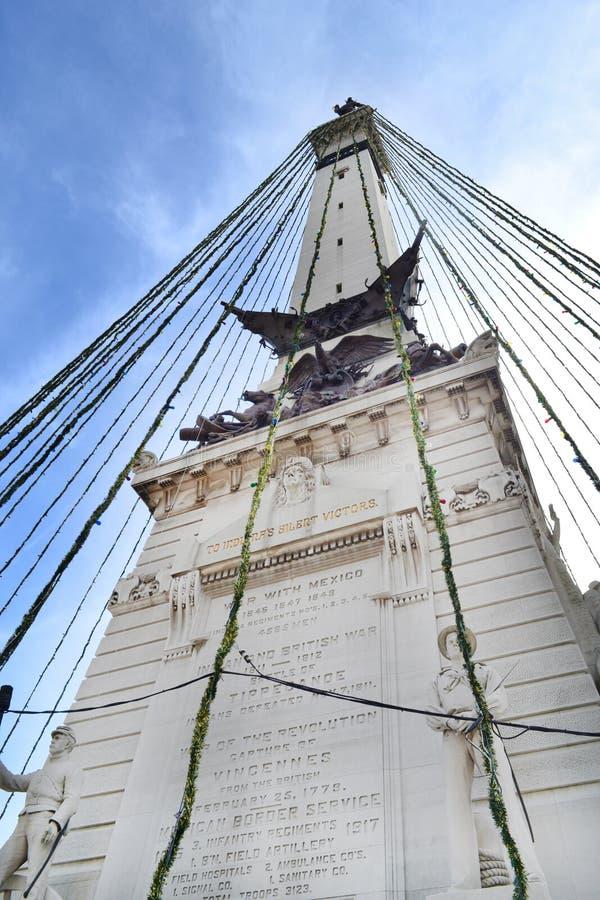 De Cirkel van het monument in Indianapolis stock foto