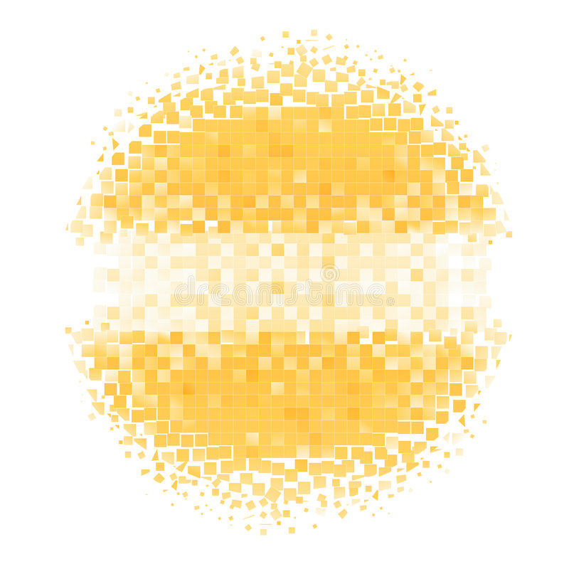 De cirkel van het mozaïek royalty-vrije illustratie