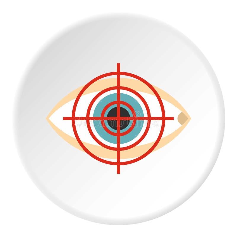 De cirkel van het opticienpictogram royalty-vrije illustratie