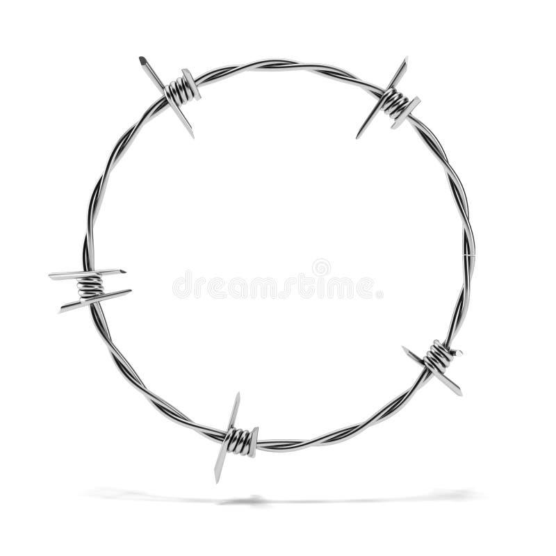 De cirkel van het prikkeldraad royalty-vrije illustratie