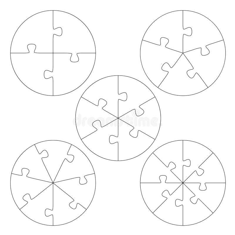 De cirkel van raadselmalplaatjes stock illustratie