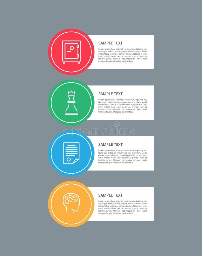 De Cirkel Vectorillustratie van Infographicelementen royalty-vrije illustratie
