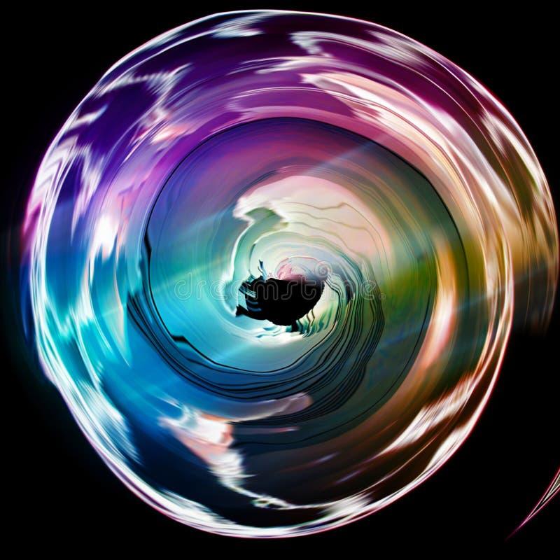 De cirkel vormde 3d symbool stock illustratie