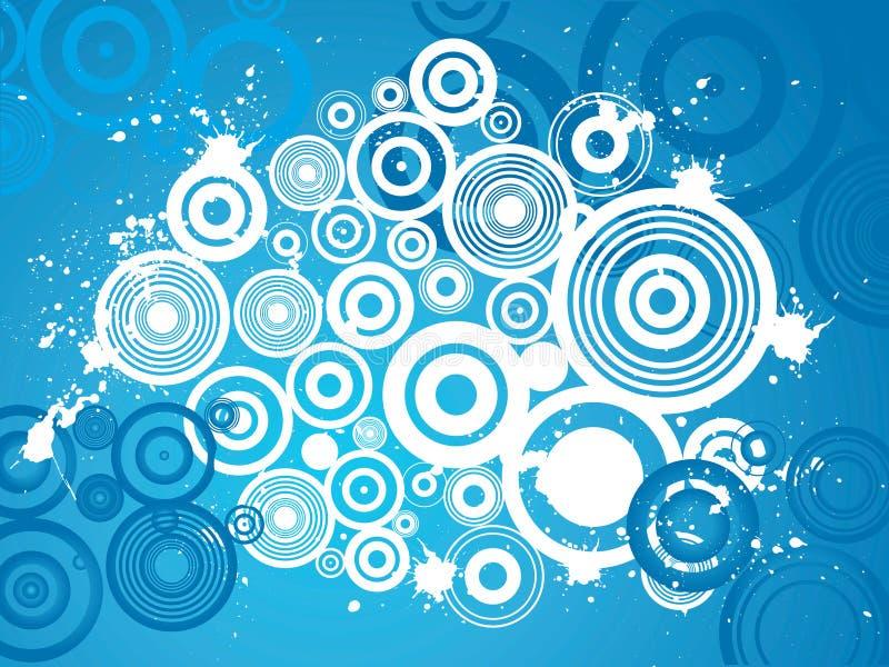 De cirkelachtergrond van Grunge vector illustratie