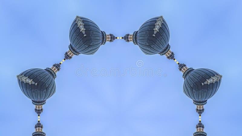 De Cirkeldievorm van het panoramakader met architectuur in Utah wordt gemaakt royalty-vrije stock foto