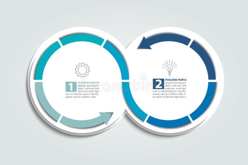 De cirkelgrafiek van pijlinfographic royalty-vrije illustratie