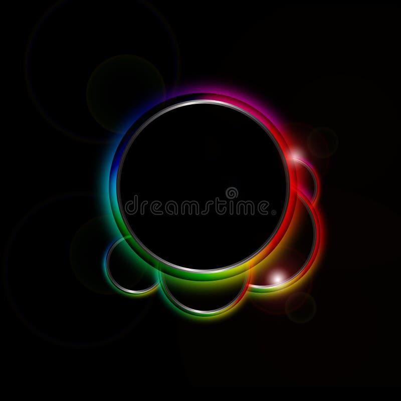 De cirkelgrens van de regenboog stock illustratie