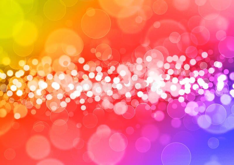 De cirkels van de regenboog stock illustratie
