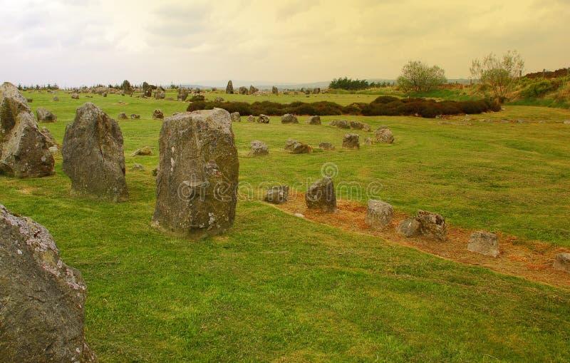De cirkels van de steen, Noord-Ierland. stock fotografie