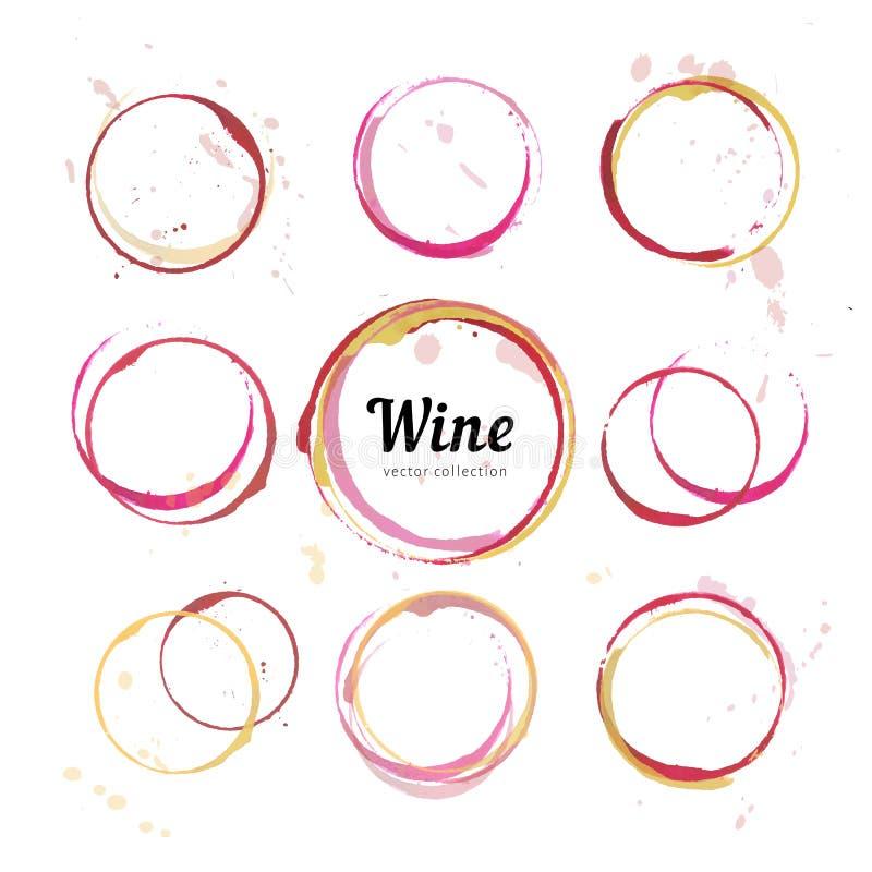 De cirkels van de wijnvlek royalty-vrije illustratie