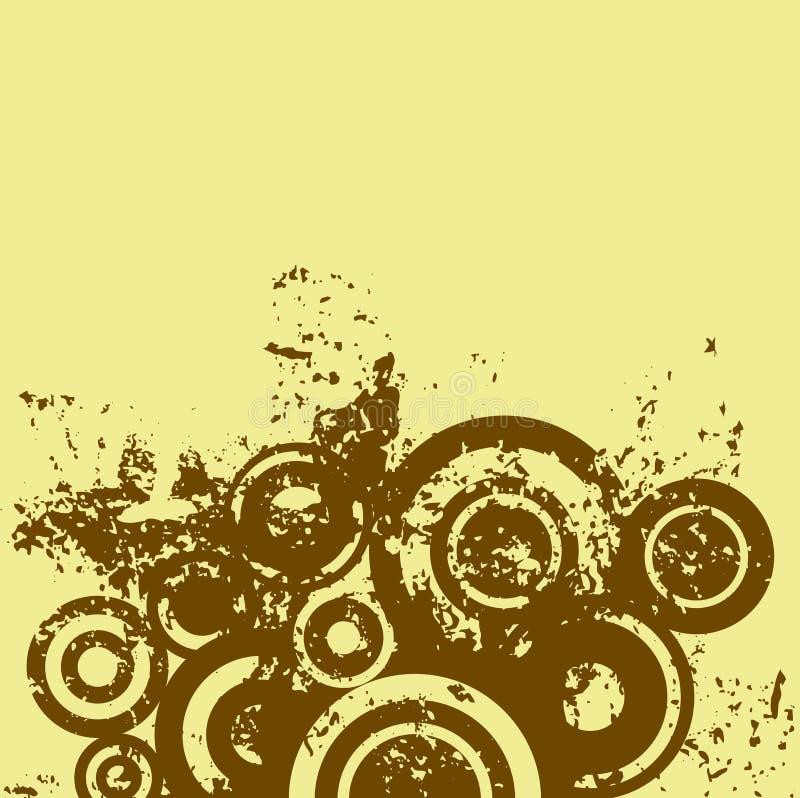 De cirkels van Grunge royalty-vrije illustratie