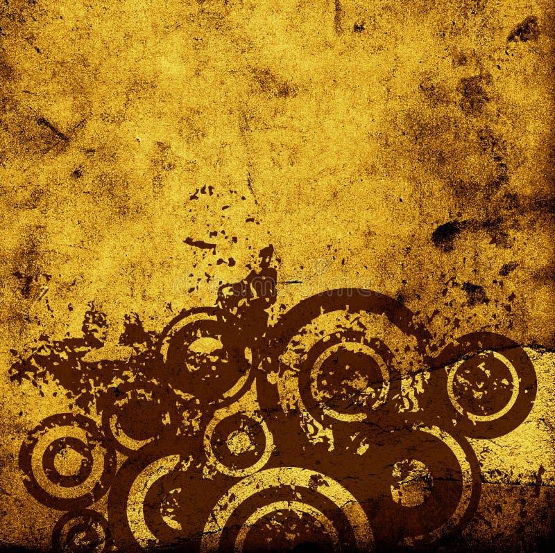 De cirkels van Grunge stock illustratie