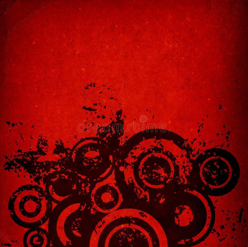 De cirkels van Grunge vector illustratie