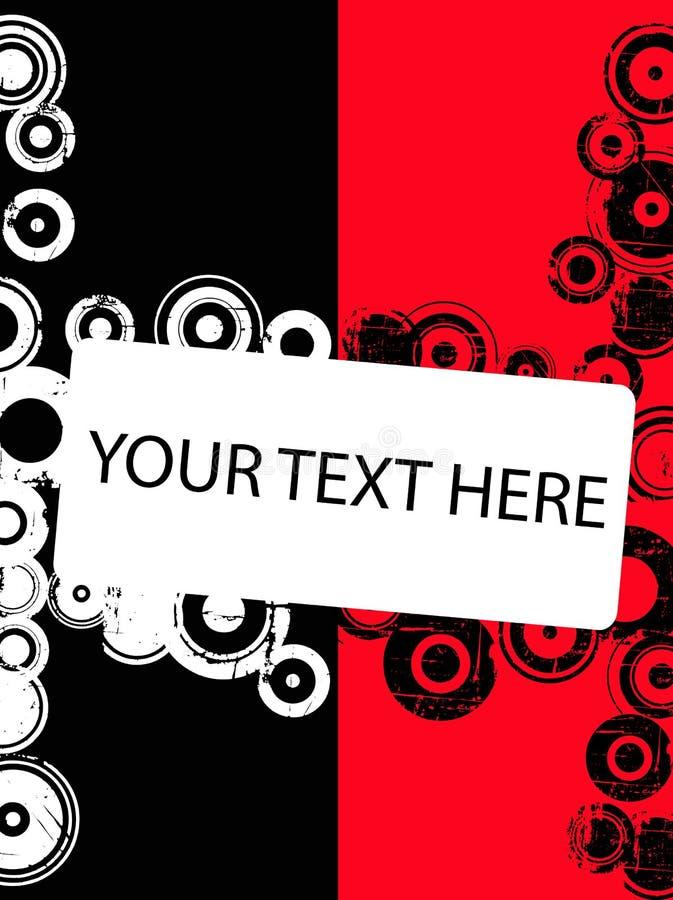 De Cirkels van Grunge met copyspace vector illustratie