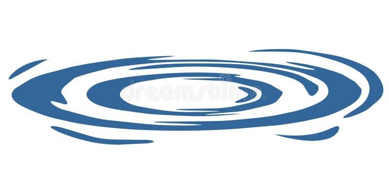 De cirkels van het water royalty-vrije illustratie