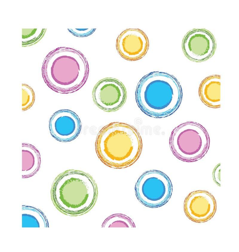 De cirkelstextuur van de kleur royalty-vrije illustratie