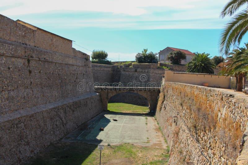 De Citadel in Ajaccio stock afbeelding