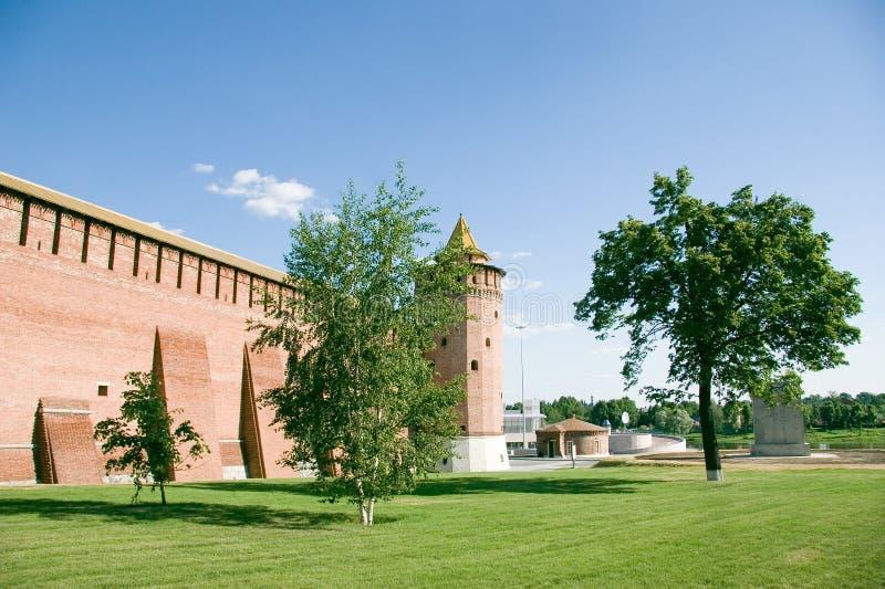 De citadel van bakstenen in Rusland stock fotografie