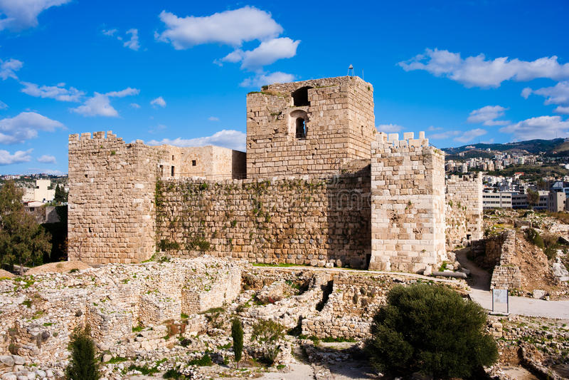 De Citadel van de Kruisvaarder van Byblos royalty-vrije stock foto