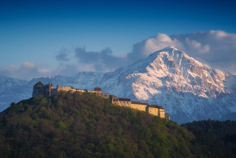 De citadel van Rasnov stock afbeeldingen