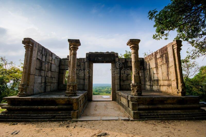 De citadel van Yapahuwa, Sri Lanka royalty-vrije stock foto's