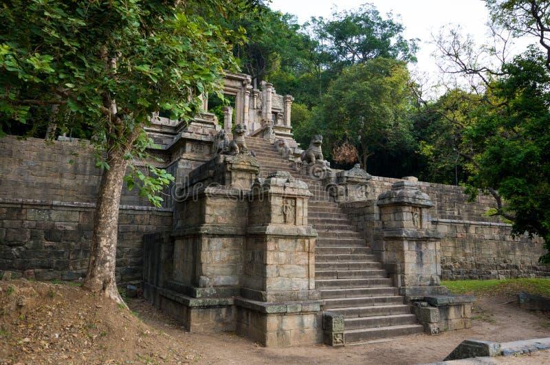 De citadel van Yapahuwa, Sri Lanka stock afbeeldingen