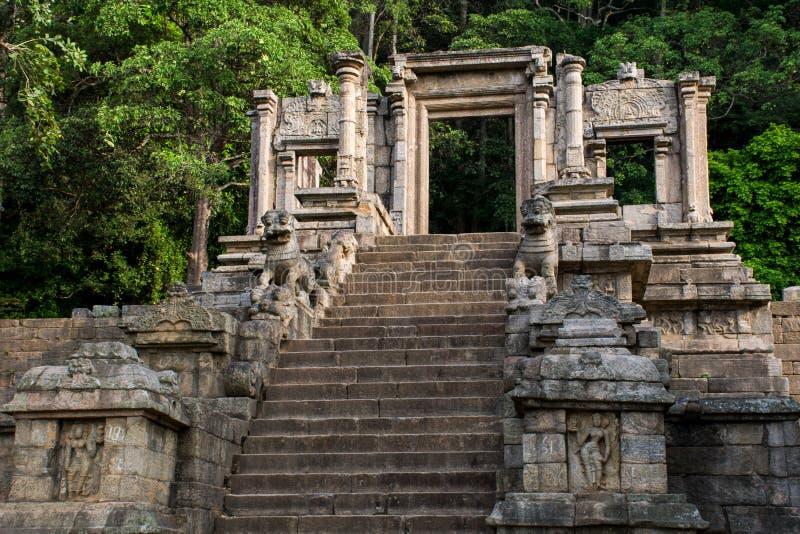 De citadel van Yapahuwa, Sri Lanka stock foto