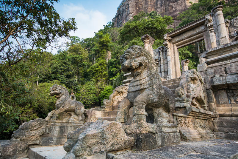 De citadel van Yapahuwa, Sri Lanka royalty-vrije stock afbeelding