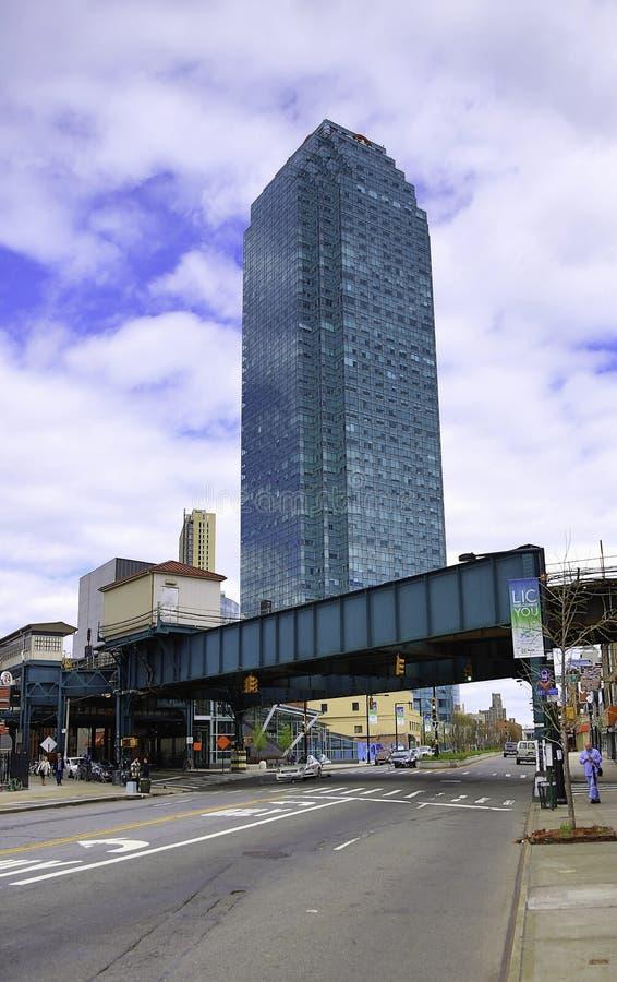 De Citigroupbouw in Long Island-Stad in New York stock foto