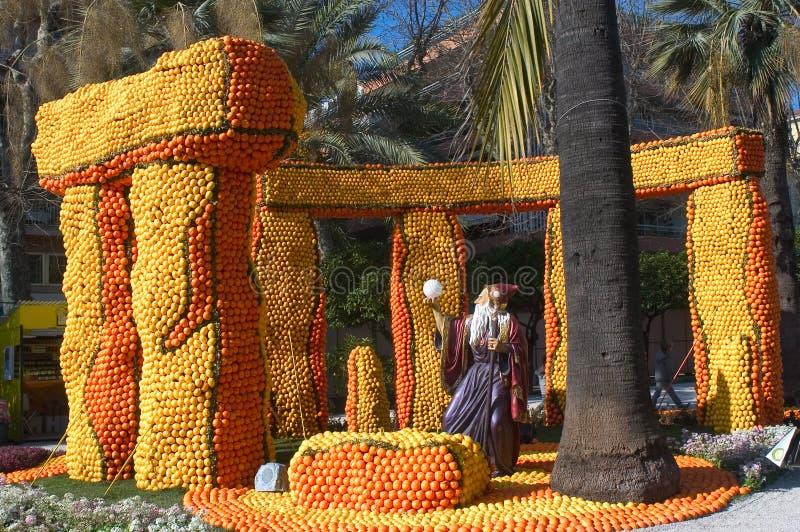 De citroen Menton 2011 viert stock afbeeldingen