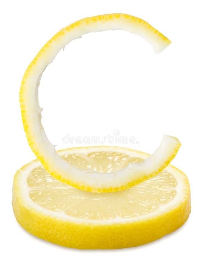De citroen van de vitamine C stock afbeeldingen