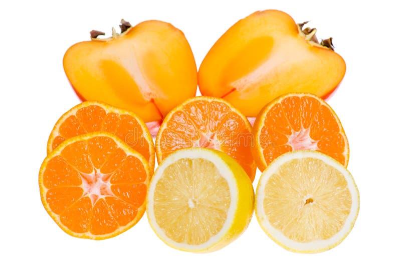 De citroenmandarin van de fruitbanaan dadelpruim royalty-vrije stock fotografie
