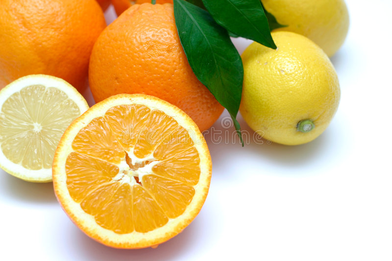 De citrusvrucht detailleert II royalty-vrije stock afbeelding