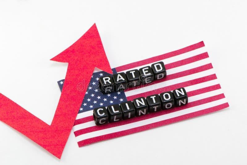 De classificatie Clinton kweekt uitdrukking royalty-vrije stock afbeeldingen