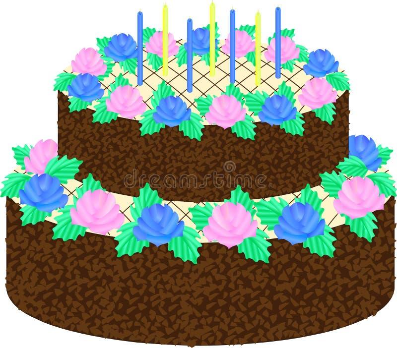  de Clipart Ñ ake con las flores rosa y azul fotos de archivo libres de regalías