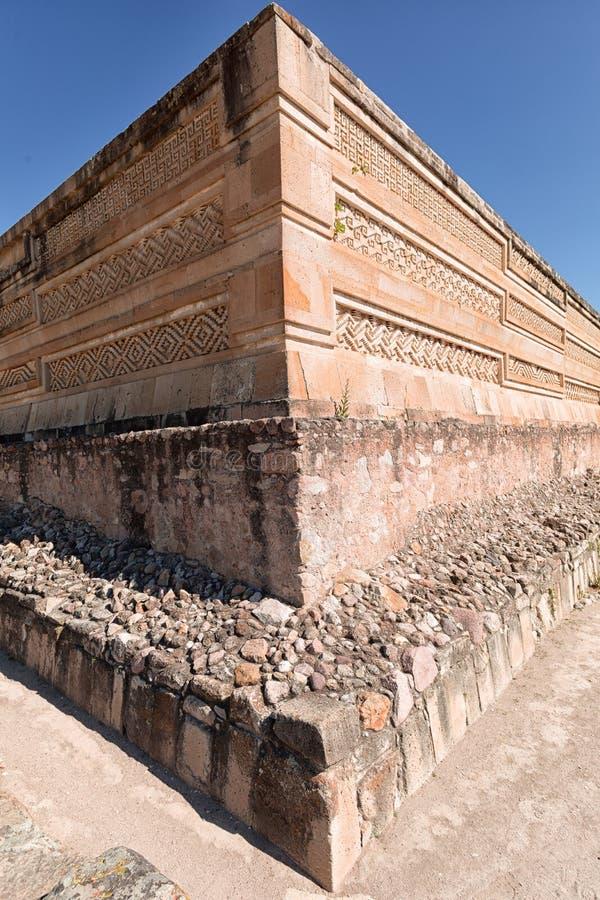 De close-up Oaxaca Mexico van Mitla zapotec ruïnes royalty-vrije stock foto