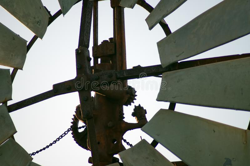 De close-up of de samenvatting neemt windmolen over stock foto's