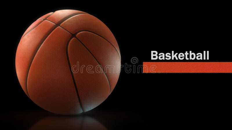 De close-up van de basketbalbal royalty-vrije stock foto