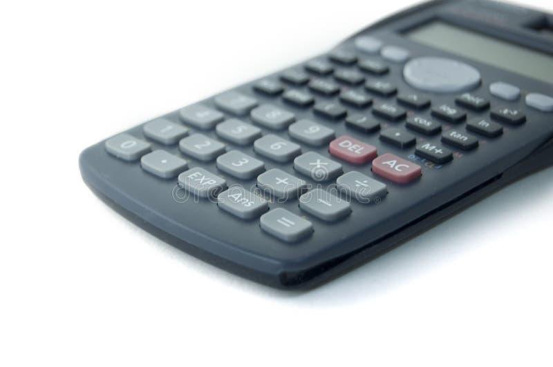 De close-up van de calculator stock fotografie