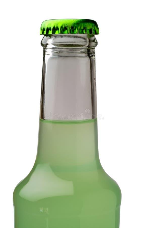 De close-up van de de drankfles van de kalk royalty-vrije stock afbeeldingen