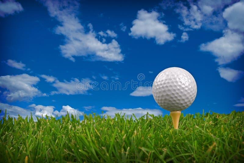 De close-up van de golfbal stock fotografie
