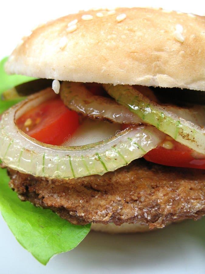 De Close-up Van De Hamburger Royalty-vrije Stock Afbeeldingen