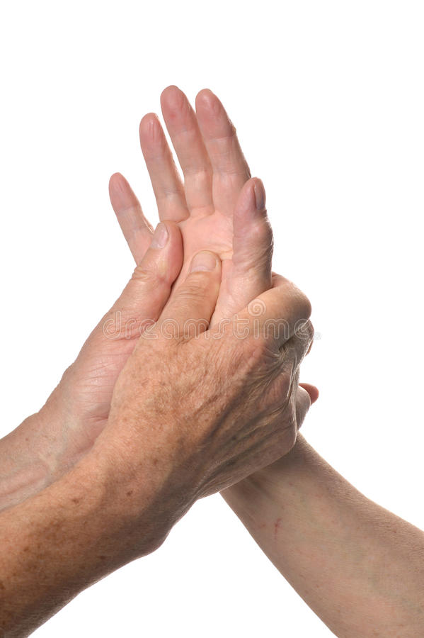 De close-up van de handmassage stock afbeeldingen