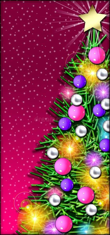 De Close-up van de kerstboom royalty-vrije illustratie