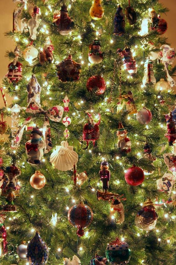 De close-up van de kerstboom stock afbeeldingen